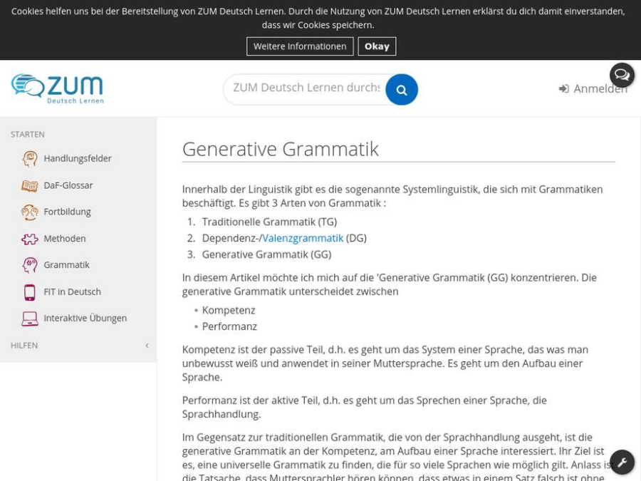 Cover: Generative Grammatik