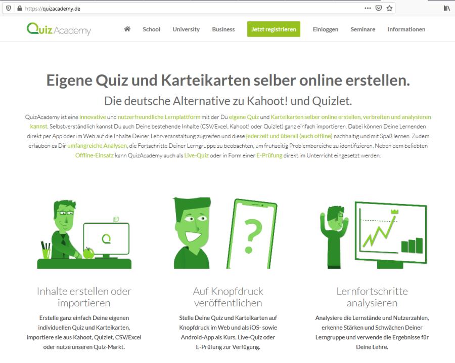 Cover: QuizAcademy | Die Lernplattform für Quiz und Karteikarten | aus Deutschland | DSGVO-konform