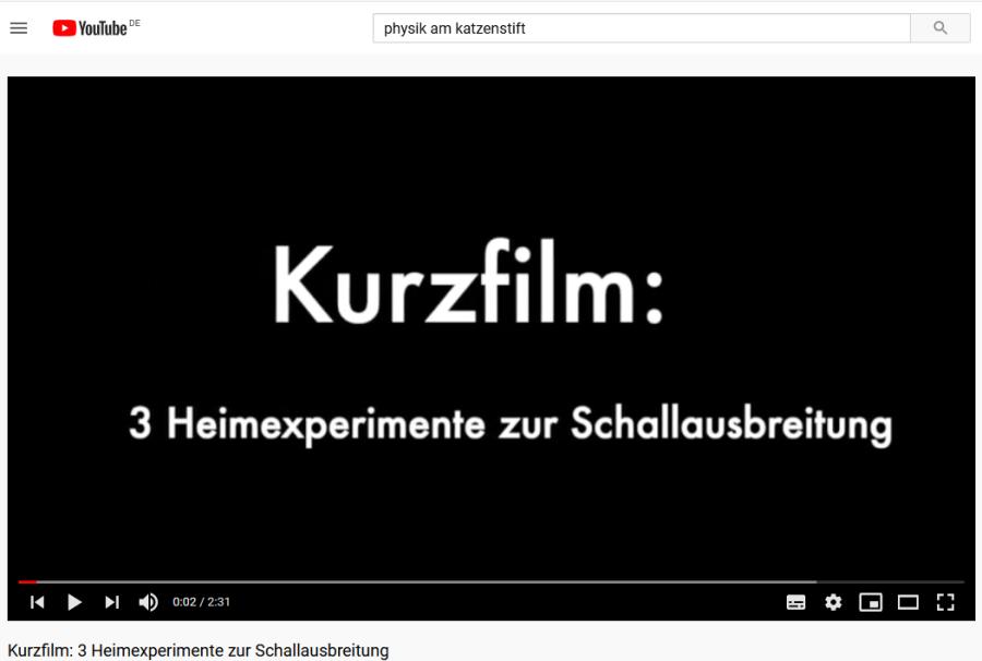 Cover: Kurzfilm: 3 Heimexperimente zur Schallausbreitung - YouTube