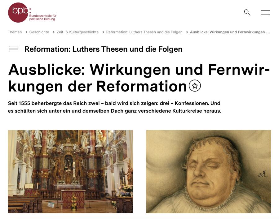 Cover: Ausblicke: Wirkungen und Fernwirkungen der Reformation