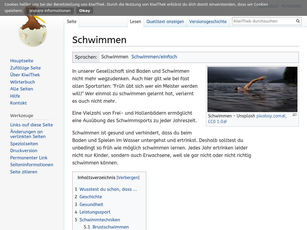 Cover: Schwimmen – KiwiThek