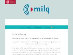 Cover: Formalismus - milq
