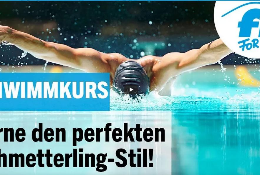 Cover: Schwimmkurs: Perfekt Schmetterling-Stil lernen mit FIT FOR FUN - YouTube