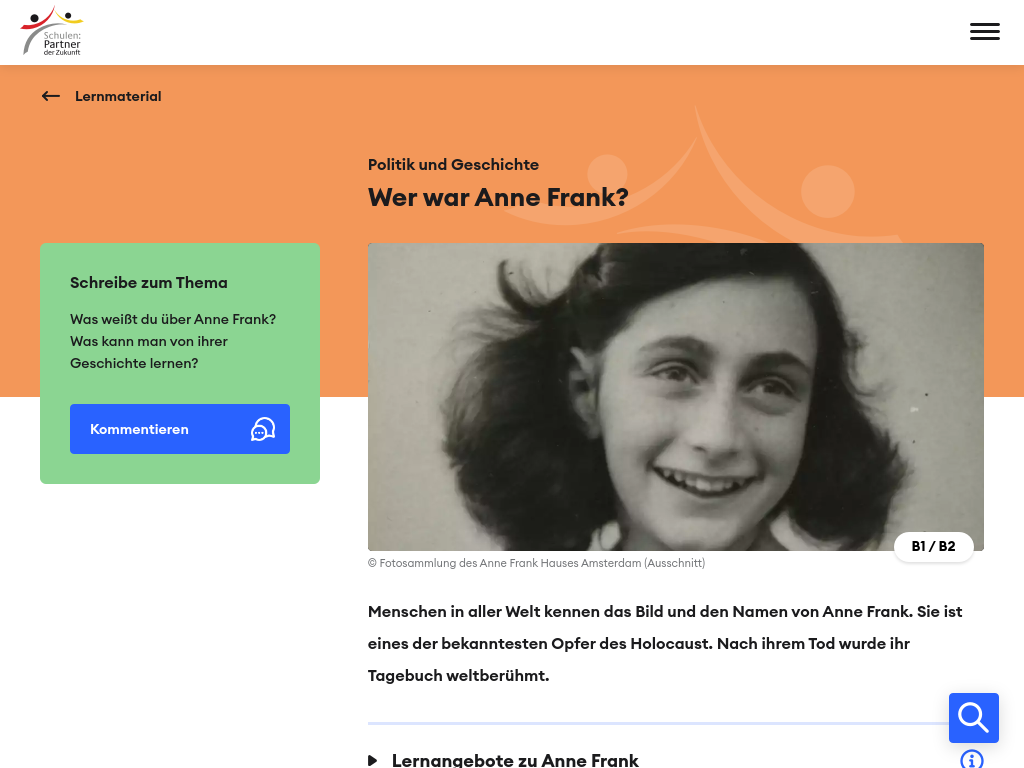 Cover: Wer war Anne Frank?