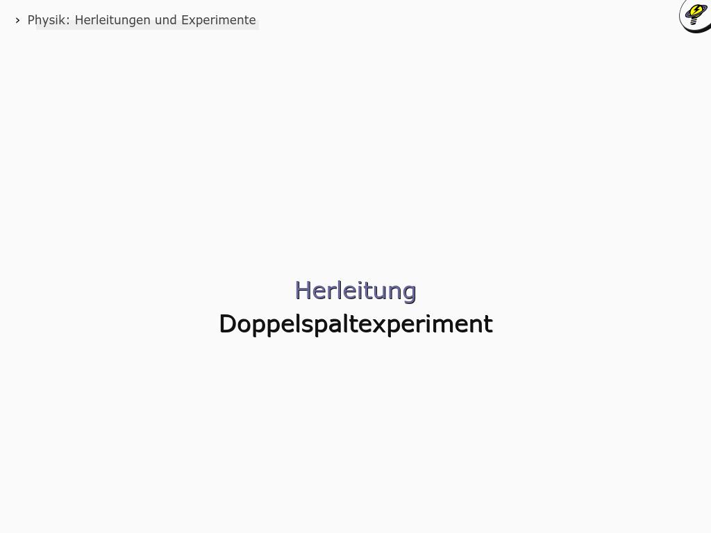 Cover: Doppelspaltexperiment - Herleitung