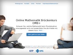 Cover: Online Mathematik Brückenkurs OMB+ von DPG und KFP