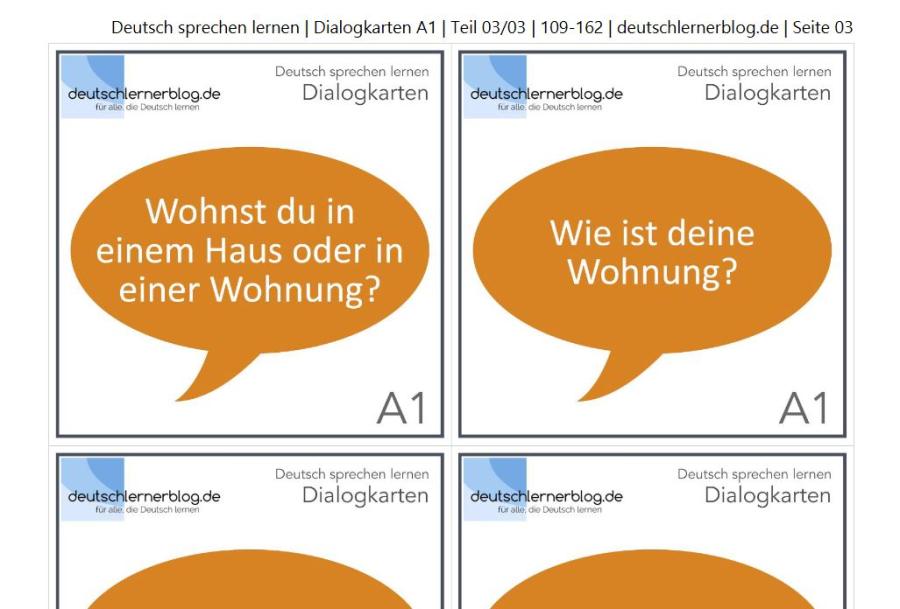 Cover: Dialogkarten A1   Teil 3/3