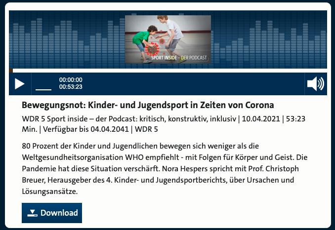 Cover: Kinder- und Jugendsport in Zeiten von Corona
