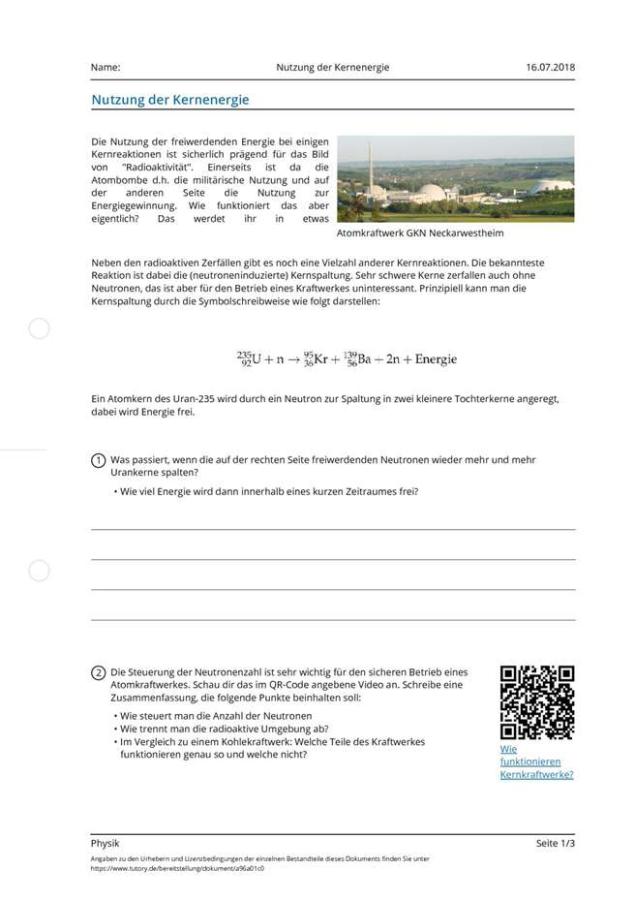 Cover: Nutzung der Kernenergie