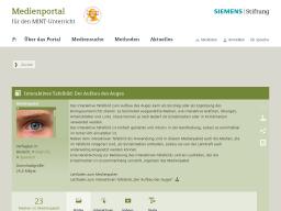 Cover: Interaktives Tafelbild: Der Aufbau des Auges - Medienportal der Siemens Stiftung