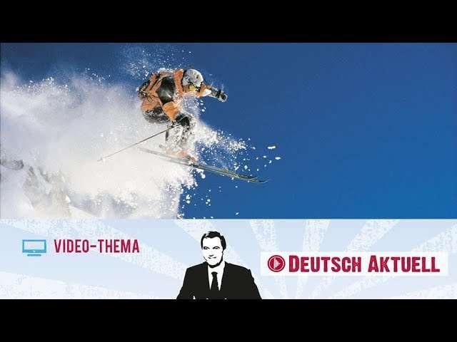Cover: Extremsport Freeskiing | Deutsch lernen mit Videos