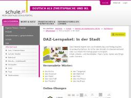 Cover: DAZ-Lernpaket   In der Stadt