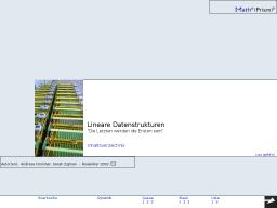 Cover: MathePrisma - Lineare Datenstrukturen