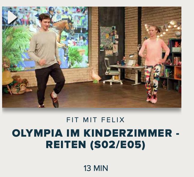 Cover: Fit mit Felix : Olympia im Kinderzimmer - Reiten (S02/E05)