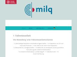 Cover: Unbestimmtheit - milq