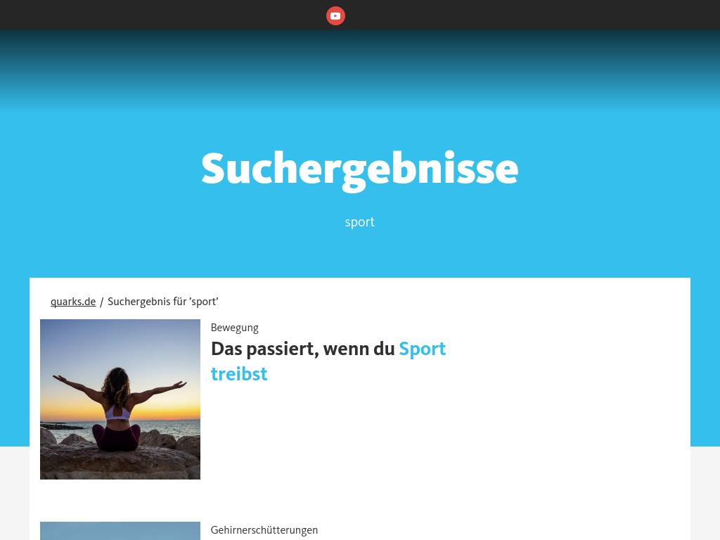 Cover: Sport - quarks.de