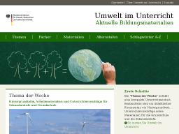 Cover: Umwelt im Unterricht