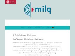 Cover: Schrödinger-Gleichung - milq