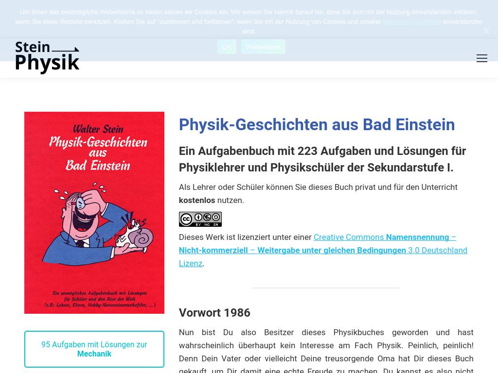 Cover: Steinphysik - Physik-Geschichten aus Bad Einstein