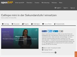 Cover: Calliope mini in der Sekundarstufe I einsetzen   openSAP