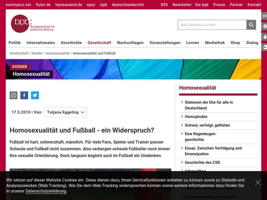 Cover: Homosexualität und Fußball - ein Widerspruch?