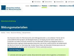 Cover: Bildungsmaterialien | Deutsches Institut für Menschenrechte