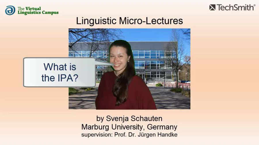 Cover: PHY_023 - Linguistic Micro-Lectures: The IPA