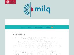 Cover: Elektronen - milq