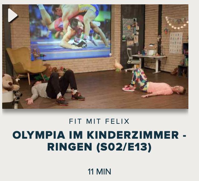 Cover: Fit mit Felix : Olympia im Kinderzimmer - Ringen (S02/E13)