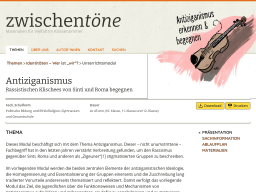Cover: Antiziganismus - Rassistischen Klischees von Sinti und Roma begegnen