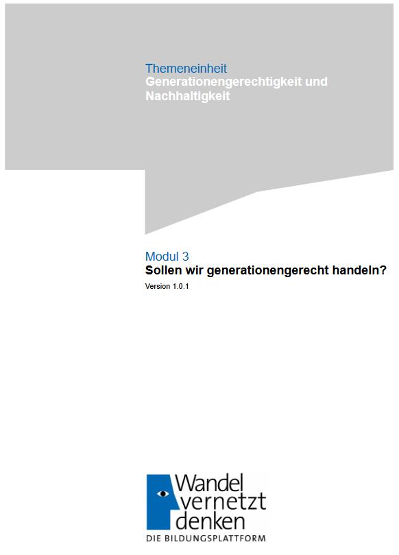 Cover: Sollen wir generationengerecht handeln?