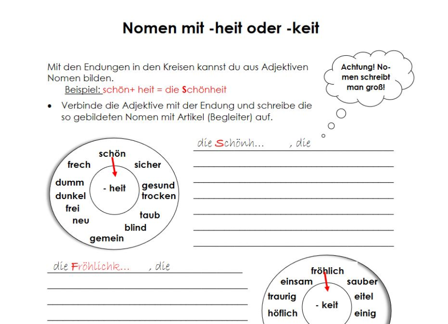 Cover: Nomen mit -heit oder -keit