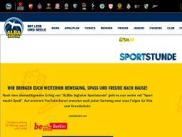 Cover: Sportstunde- ALBA BERLIN Basketballteam