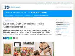 Cover:  Unterrichtsreihen | Kunst im DaF-Unterricht – eine Unterrichtsreihe