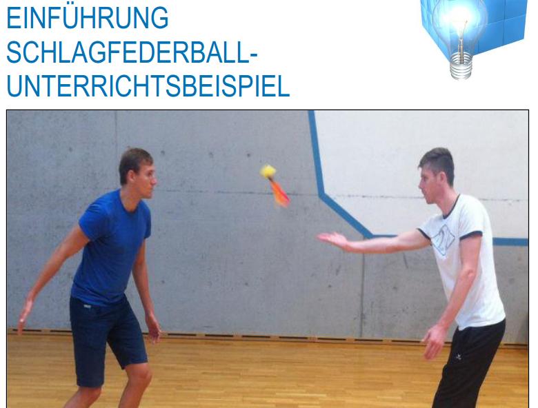 Cover: Einführung Schlagfederball Unterrichtsbeispiel