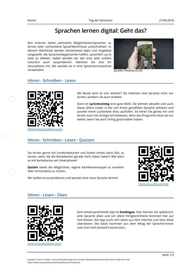 Cover: Sprachen lernen digital