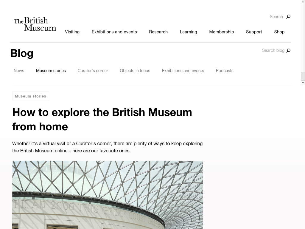 Cover: How to explore the British Museum from home