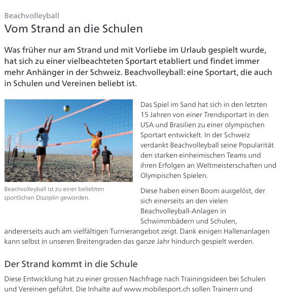 Cover: Beachvolleyball: Vom Strand an die Schulen