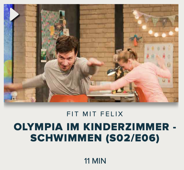 Cover: Fit mit Felix : Olympia im Kinderzimmer - Schwimmen (S02/E06)