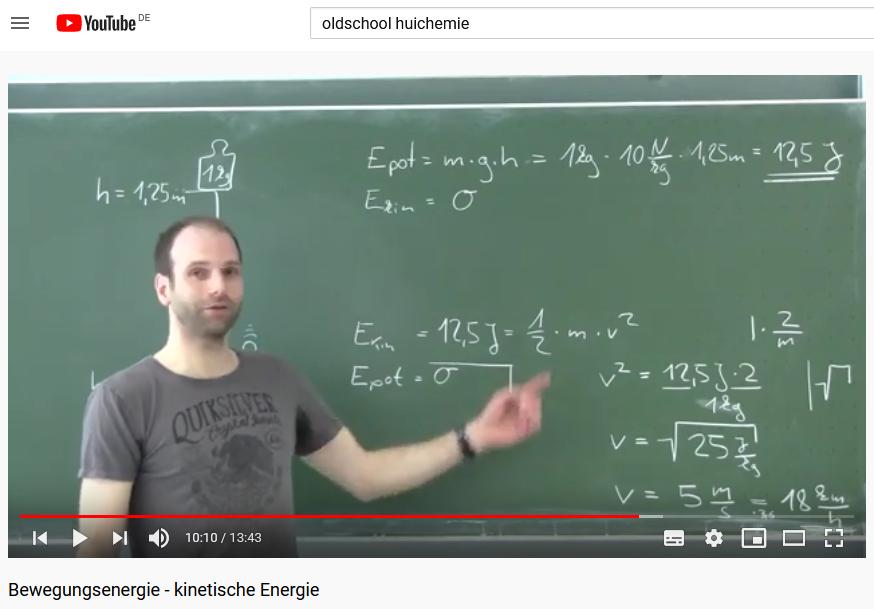 Cover: Bewegungsenergie - kinetische Energie - YouTube