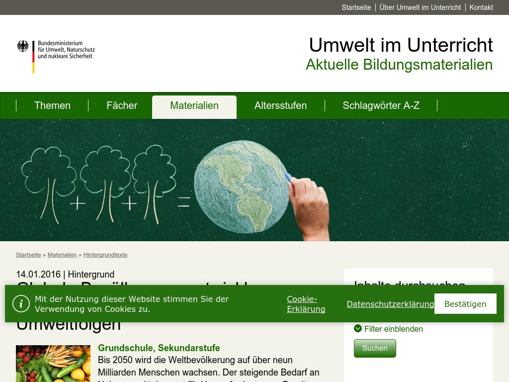 Cover: Globale Bevölkerungsentwicklung, Nahrungsmittelproduktion und Umweltfolgen