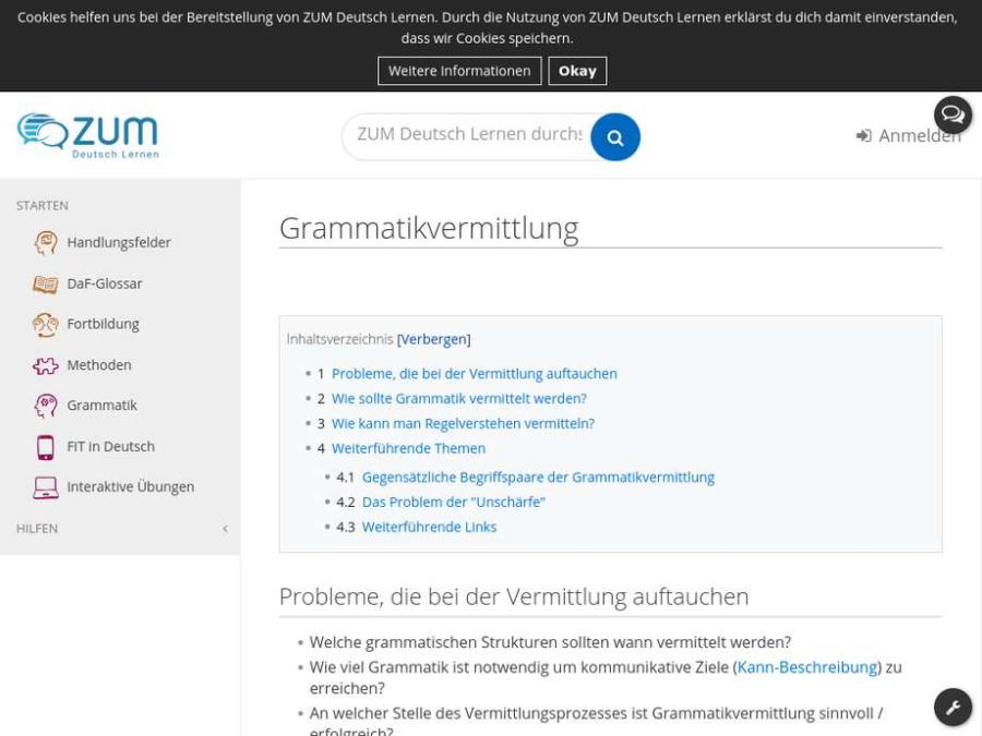 Cover: Grammatikvermittlung