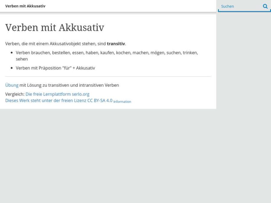 Cover: Verben mit Akkusativ