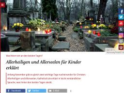 Cover: Allerheiligen uund Allerseelen für Kinder erklärt - katholisch.de