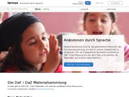 lernox | Plattform für Deutsch als Zweit- & Fremdsprache