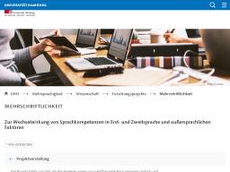 Cover: Mehrschriftlichkeit : Mehrsprachigkeit : Universität Hamburg