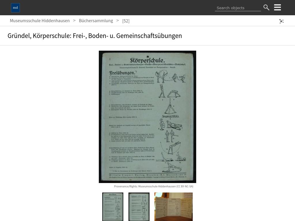 Cover: Gründel, Körperschule: Frei-, Boden- u. Gemeinschaftsübungen :: Museumsschule Hiddenhausen :: museum-digital:ostwestfalen-lippe