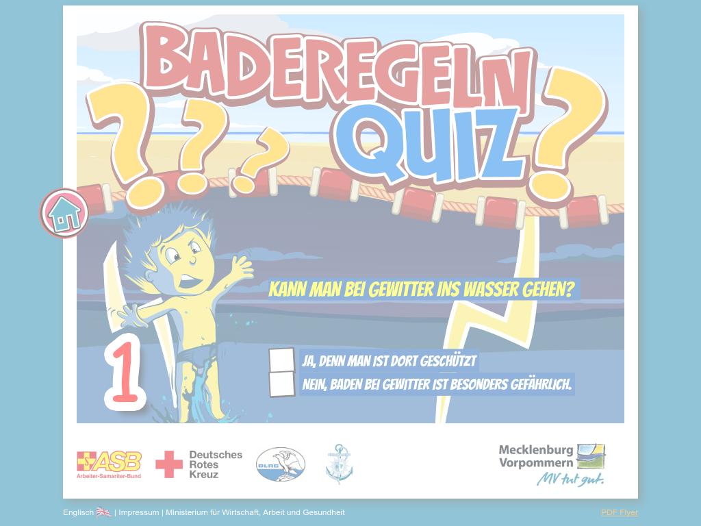 Cover: Baderegeln - Quiz