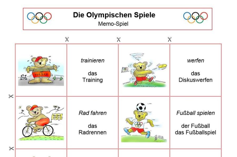 Cover: Memo-Spiel zu den Olympischen Spielen