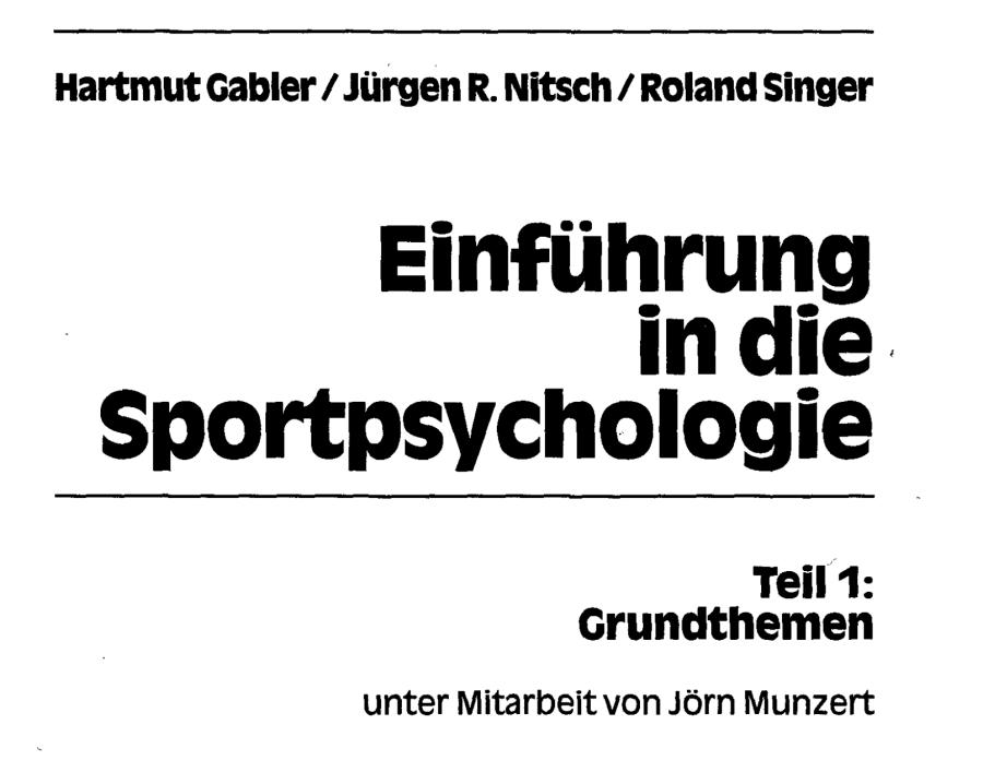 Cover: Einführung Sportpsychologie